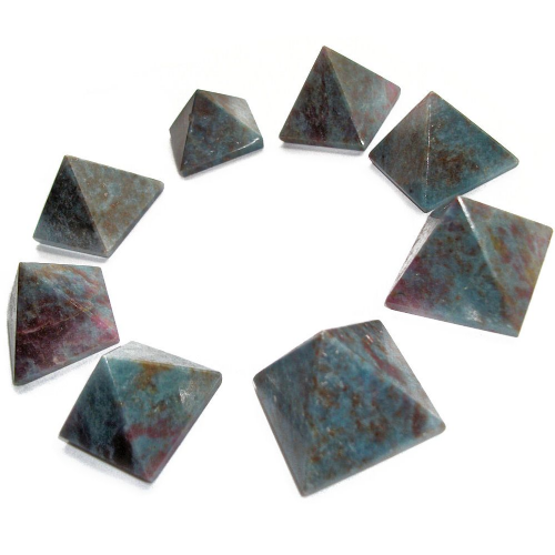 Blue Apatite Crystal Pyramid